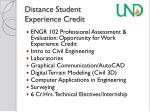 distance student experience credit
