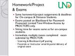 homework project exams