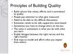 principles of building quality