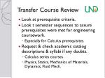 transfer course review