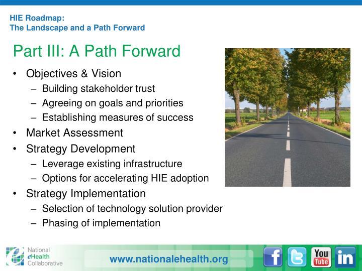 HIE Roadmap: