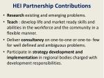 hei partnership contributions