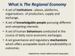 what is the regional economy