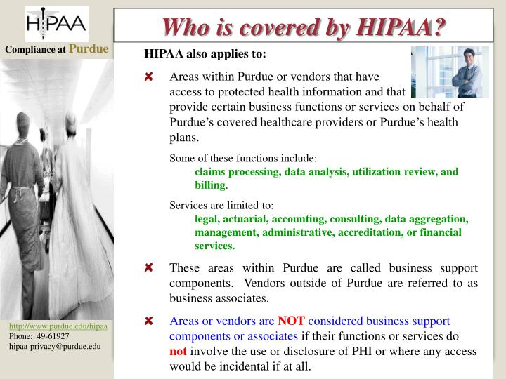 Who is covered by HIPAA