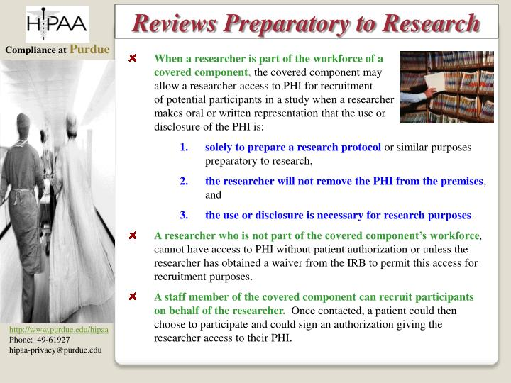Reviews Preparatory to Research