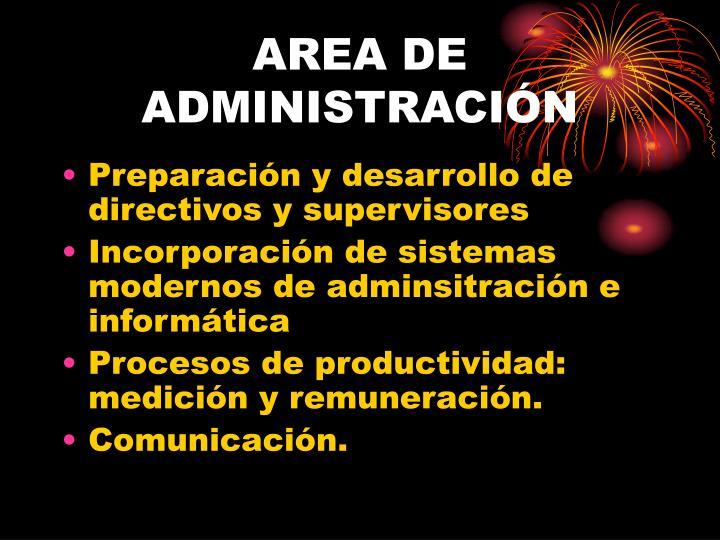 AREA DE ADMINISTRACIÓN