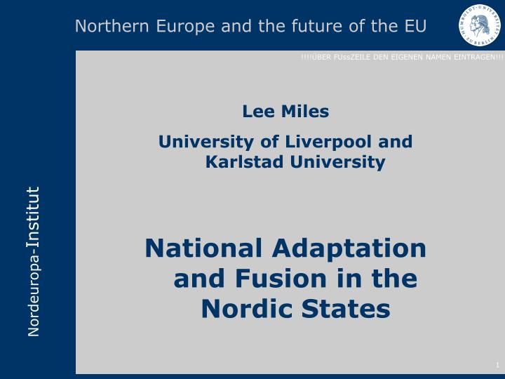 northern europe and the future of the eu n.