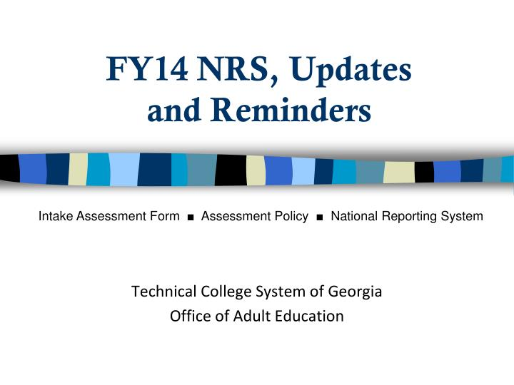 Fy14 nrs updates and reminders