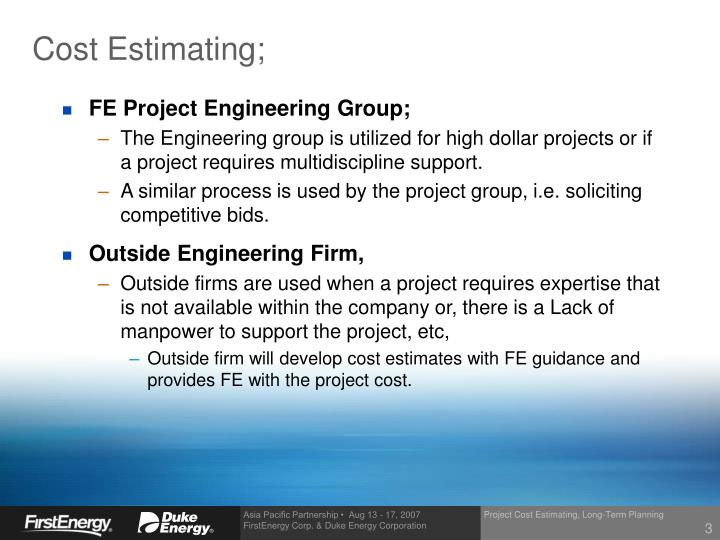 project estimating paper Estimating project cost contingency - a  contingency and its ultimate adequacy is of critical importance to projects the primarily focus of this paper is a.