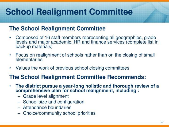School Realignment Committee