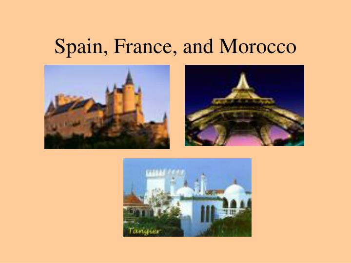 spain france and morocco n.