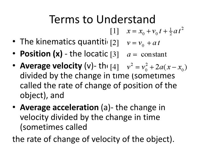 Terms to understand