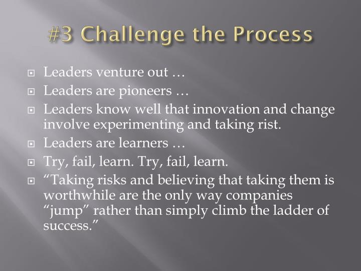 #3 Challenge the Process