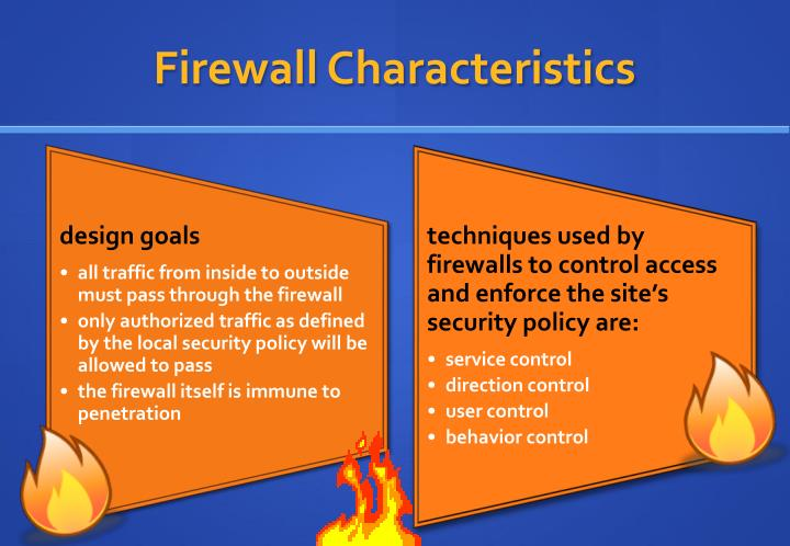 Firewall Characteristics