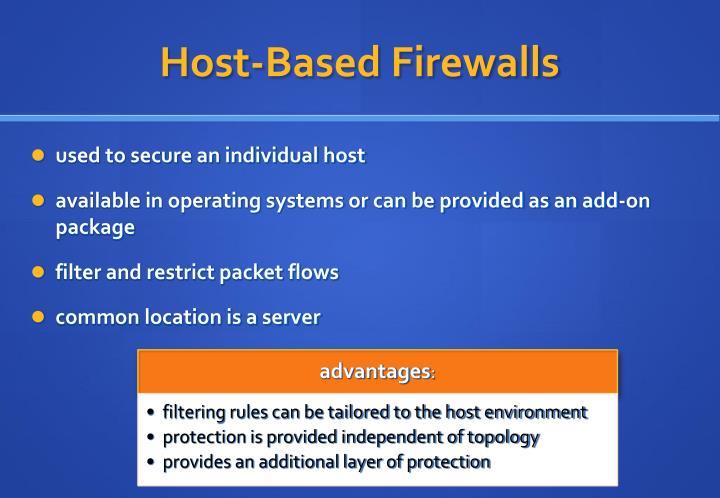Host-Based Firewalls