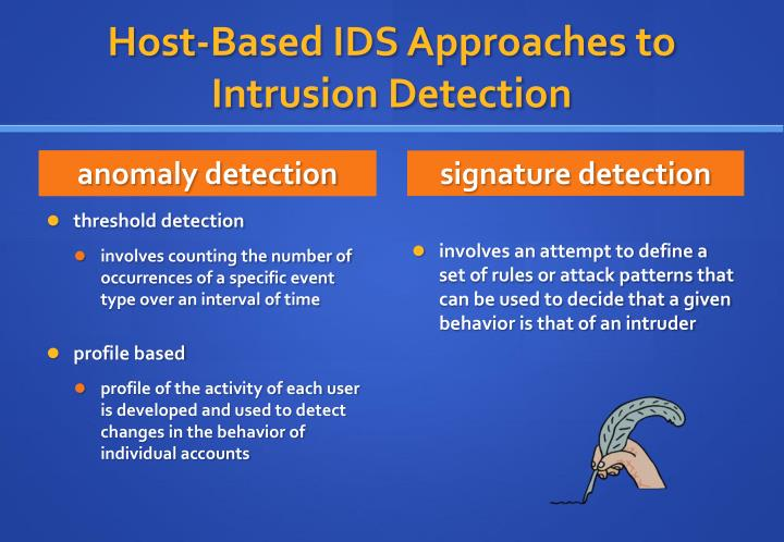 Host-Based IDS Approaches to Intrusion Detection