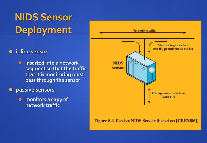 NIDS Sensor Deployment