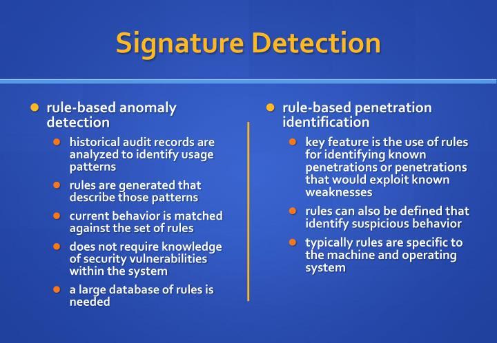 Signature Detection