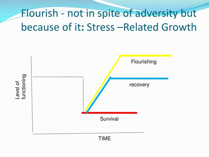 Flourish - not in spite of adversity but because of it