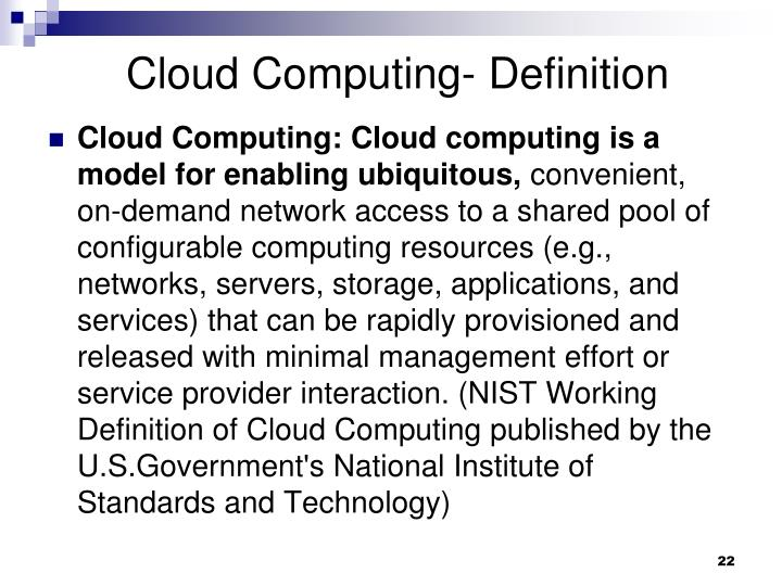 Cloud Computing- Definition