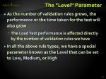 the level parameter
