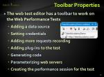 toolbar properties