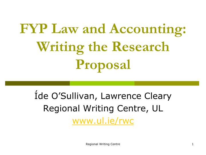 writing a law dissertation proposal