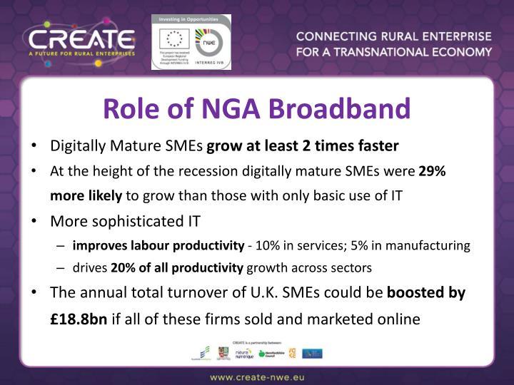 Role of NGA Broadband