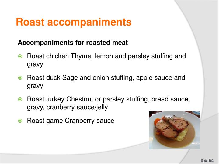 Roast accompaniments