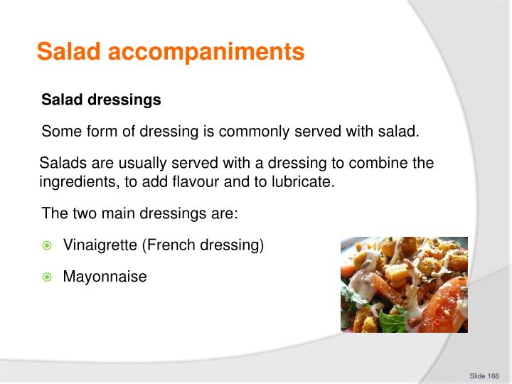 Salad accompaniments