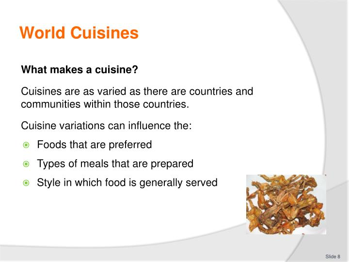 World Cuisines