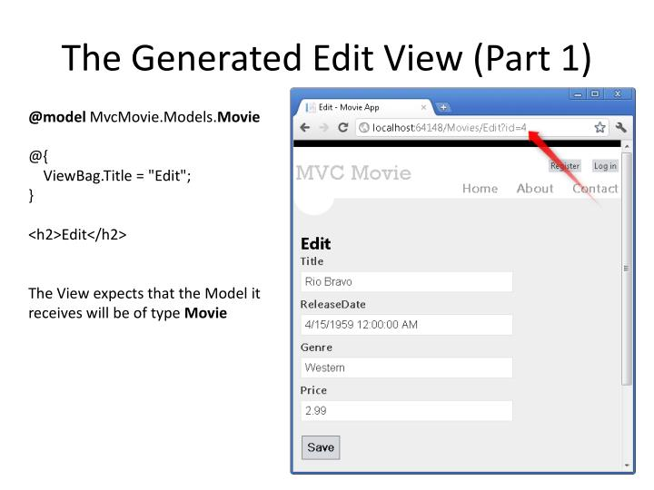 The Generated Edit View (Part 1)