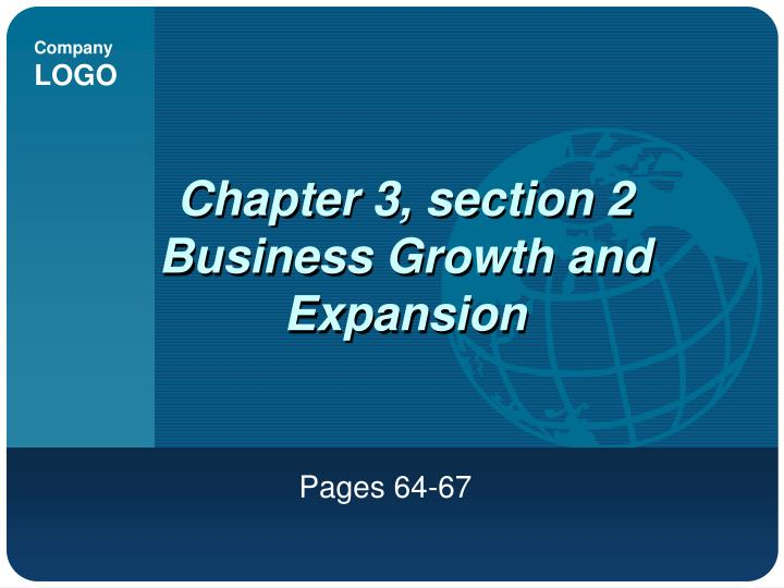 chapter 3 section 2 business growth and expansion n.