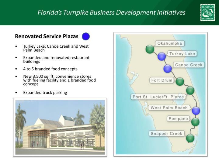 Renovated Service Plazas