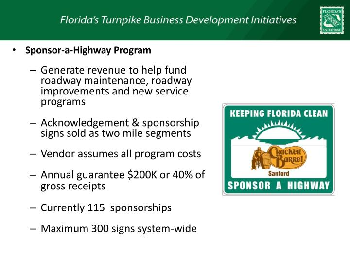 Sponsor-a-Highway Program