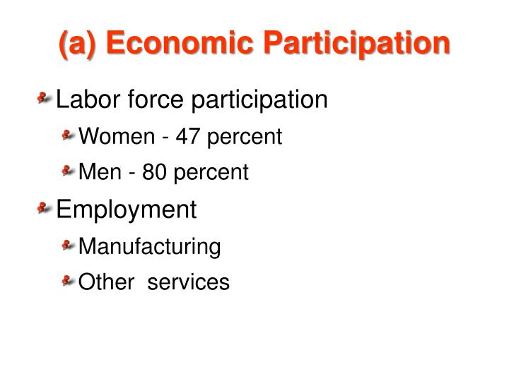 (a) Economic Participation