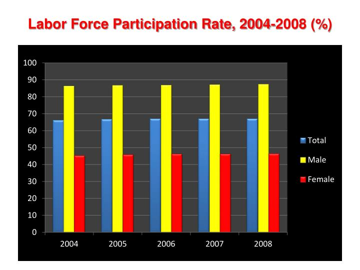 Labor Force Participation Rate, 2004-2008 (%)