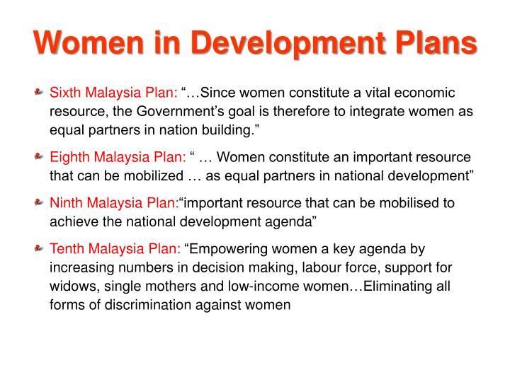 Women in Development Plans