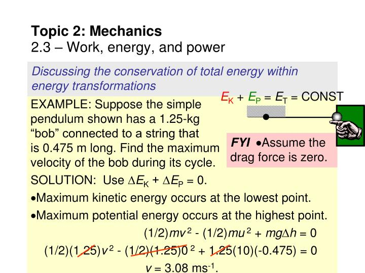 Discussing the conservation of total energy within energy transformations