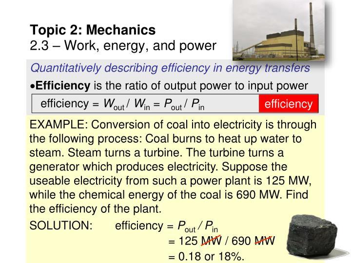 Quantitatively describing efficiency in energy transfers