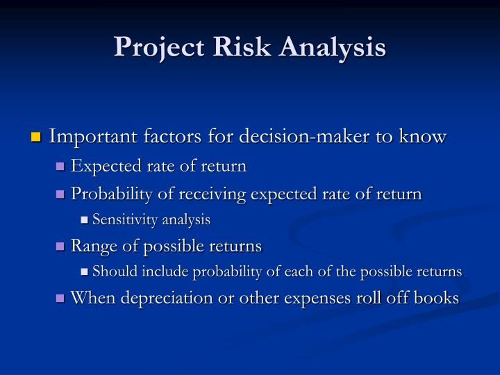 project risk analysis Risk assessment worksheet and management plan form risk_managementdoc page 1 of 12 customer/project name: the basics there are four steps to assessing and managing risks, and effective risk management requires all four of them.