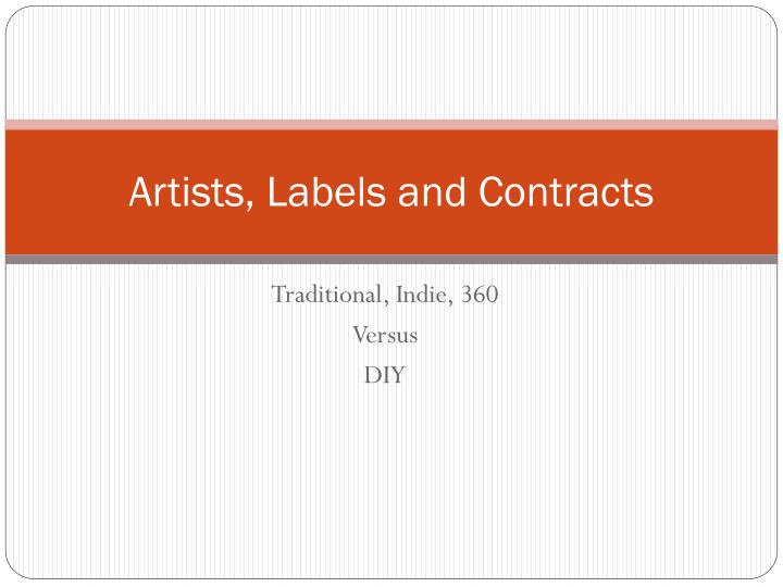 artists labels and contracts n.