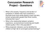 concussion research project questions