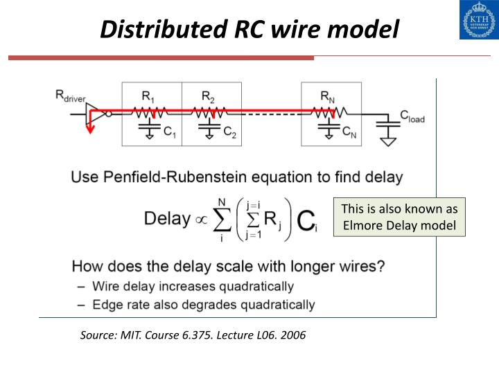 Distributed RC wire model