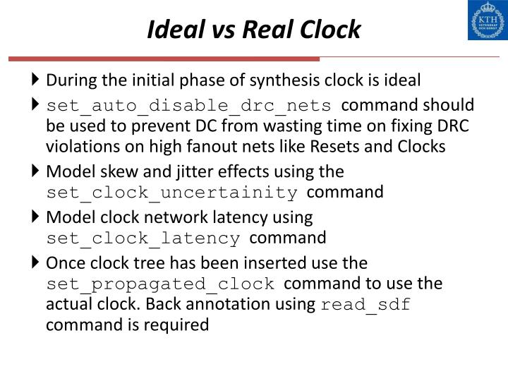 Ideal vs Real Clock