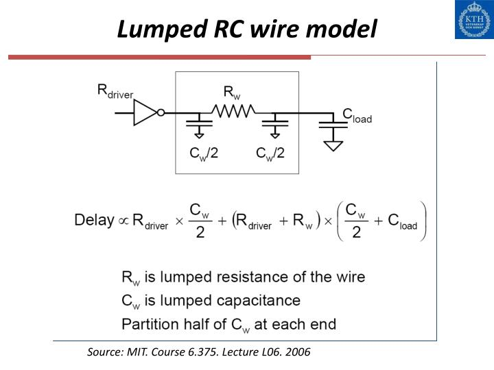 Lumped RC wire model