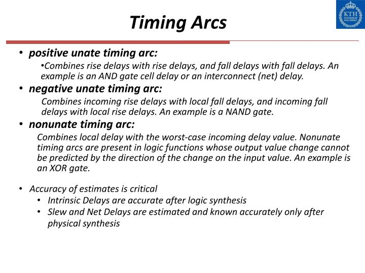 Timing Arcs