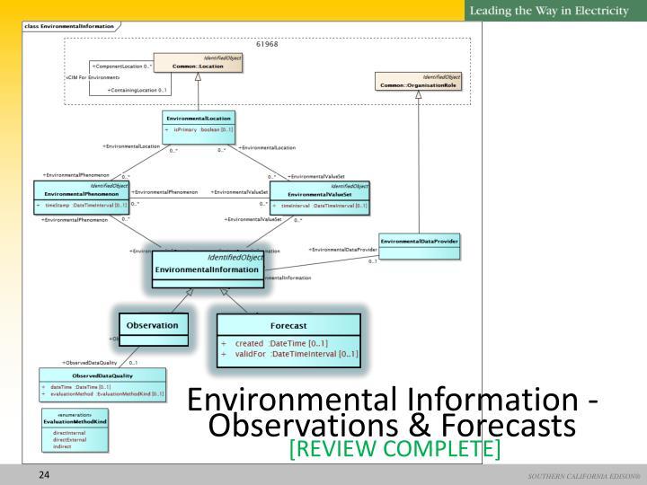 Environmental Information -