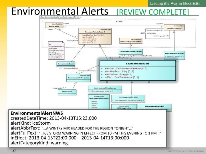Environmental Alerts