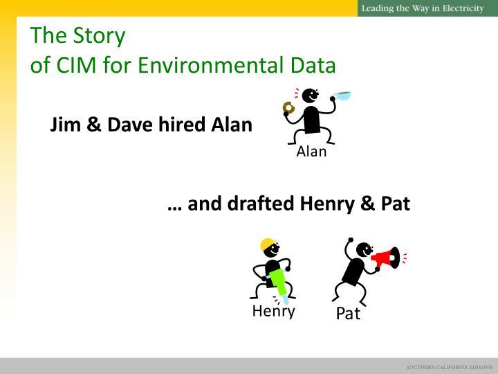 The story of cim for environmental data1